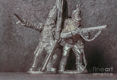 Realistic Miniatures Photograph - Tin Soldiers The Charge by Randy Steele