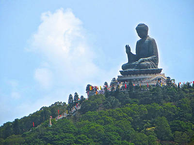 Photograph - Tin Tan Buddha In Hong Kong by Alexis Lee Scott