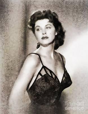 Tina Painting - Tina Louise, Vintage Actress by John Springfield