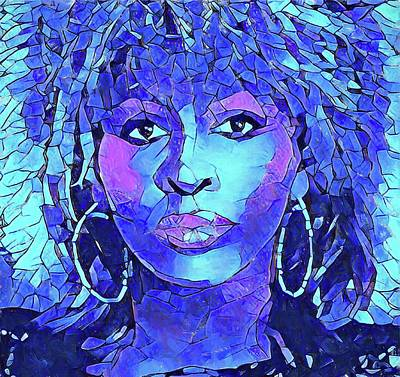 Tina Turner Abstract Portrait Art Print by Dan Sproul