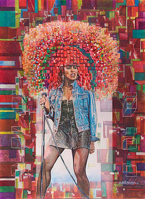 Painting - Tina Turner by Buena Johnson