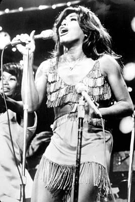 Tina Turner, During A Performance Art Print by Everett