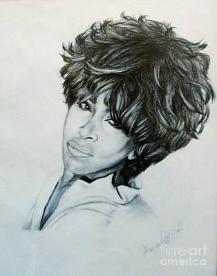 Celebrity Portraits Drawing - Tina Turner 1980s by Georgia's Art Brush