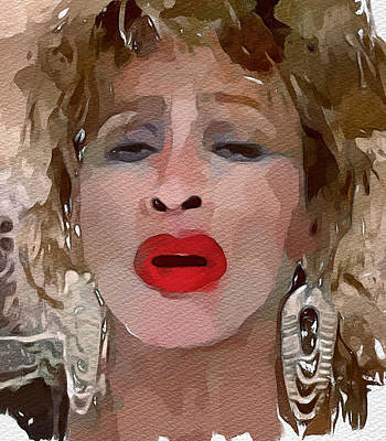 Concert Digital Art - Tina Turner Private Dancer by Yury Malkov