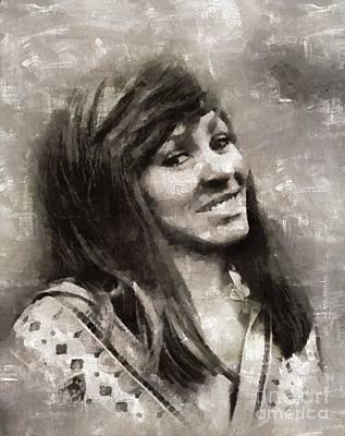 Elvis Presley Painting - Tina Turner, Singer by Mary Bassett