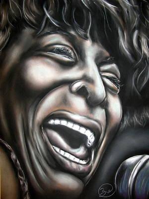Tina Turner Art Print by Zach Zwagil