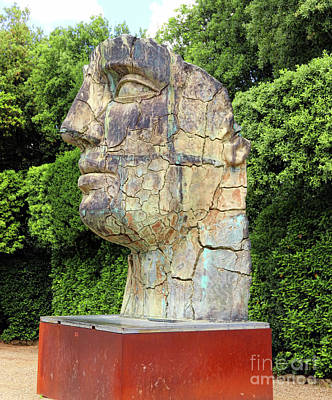 Photograph - Tindaro Screpolato Sculpture In Boboli Garden 9852 by Jack Schultz