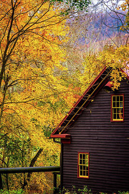 Photograph - Tingler's Mill In Fall by Joe Shrader