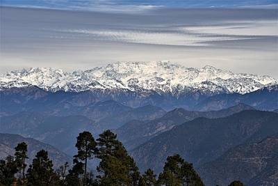 Photograph - Tingling Overlook 1 - Himalayas India by Kim Bemis