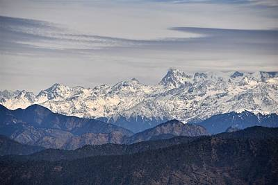 Photograph - Tingling Overlook 2 - Himalayas India by Kim Bemis