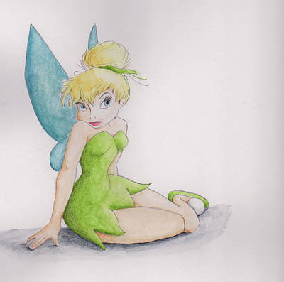 Mixed Media - Tinker Bell by Steven Powers SMP