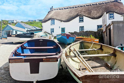 Tinker Taylor Cottage Sennen Cove Cornwall Art Print by Terri Waters