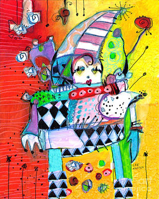 Tinker Toy Painting - Tinker Toy by Lee Kaster