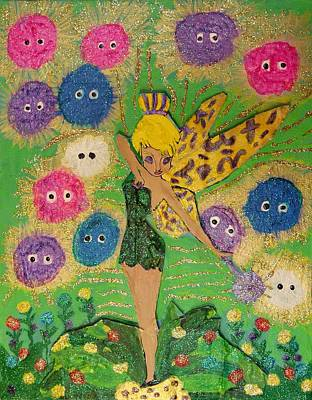 Tinkerbell Painting - Tinkerbell by Betty J Roberts
