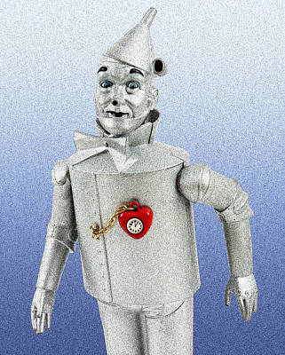 Wizard Of Oz Digital Art - Tinman Robot by L S Keely