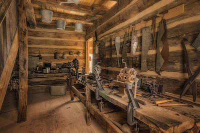Photograph - Tinsmith Shop Hermann Farm Mo_dsc2823_16 by Greg Kluempers
