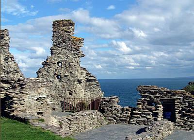 Castle Photograph - Tintagel Castle 1 by Kurt Van Wagner