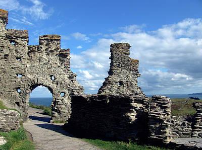 Castle Photograph - Tintagel Castle 2 by Kurt Van Wagner