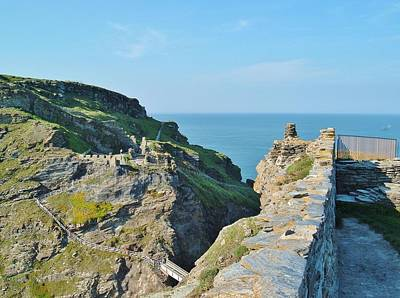 Photograph - Tintagel Castle Island by Richard Brookes
