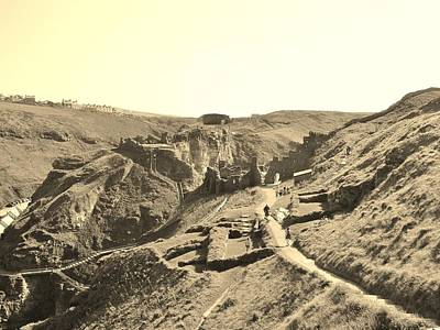 Photograph - Tintagel Castle Ruins by Richard Brookes