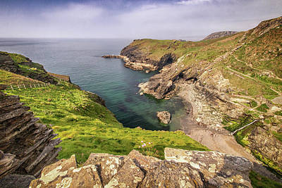 Photograph - Tintagel Cliffs by Framing Places