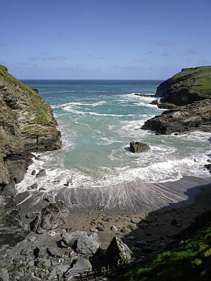 Photograph - Tintagel Harbour North Cornwall by Richard Brookes