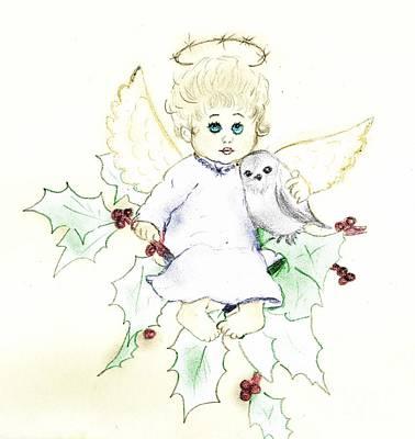Tinted Little Angel Art Print
