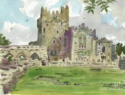 Abbey Painting - Tintern Abbey 1 by Donald Maier