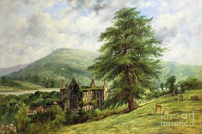 Grave Yards Painting - Tintern Abbey  by Frederick Waters Watts