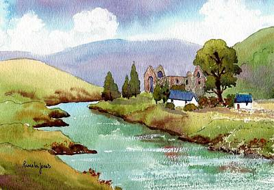 This Is England Painting - Tintern Abbey Monmouthshire Wales Uk by Pamela Jones