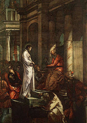 Tintoretto Christ Before Pilate Art Print