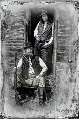 Photograph - Tintype Portrait Reproduction by Brad Allen Fine Art