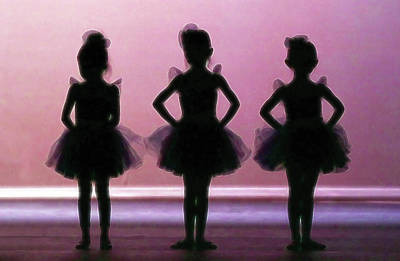 Photograph - Tiny Ballerinas by Athena Mckinzie
