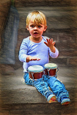Digital Art - Tiny Bongos by John Haldane