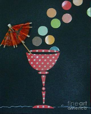 Mixed Media - Tiny Bubbles by Jayne Somogy