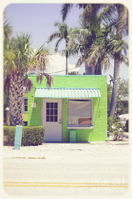 Photograph - Tiny Colorful Store Florida by Edward Fielding