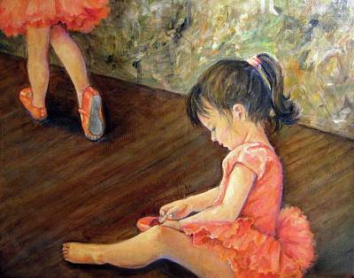 Ballet Painting - Tiny Dancer by Donna Tucker
