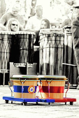 Photograph - Tiny Drums Big Sounds by John Haldane