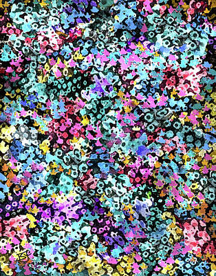 Digital Art - Tiny Flowers by Jean Batzell Fitzgerald