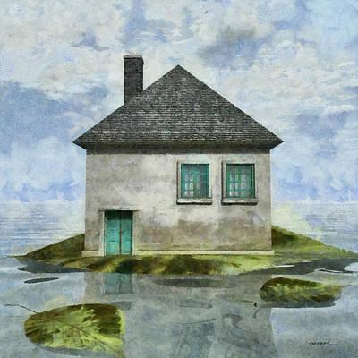 Playful Digital Art - Tiny House 2 by Cynthia Decker