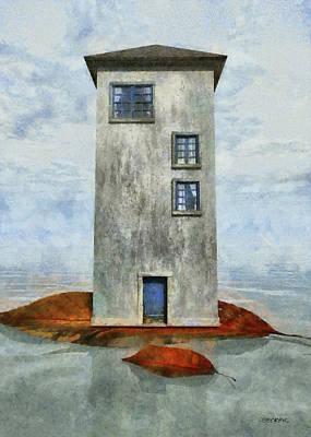 Playful Digital Art - Tiny House 3 by Cynthia Decker