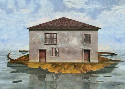 Small Digital Art - Tiny House 4 by Cynthia Decker