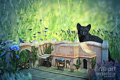 Digital Art - Tiny House by Jutta Maria Pusl