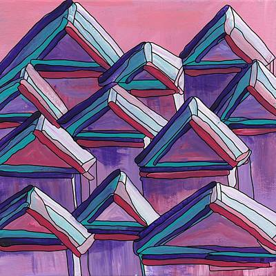 Painting - Tiny Houses by Barbara St Jean
