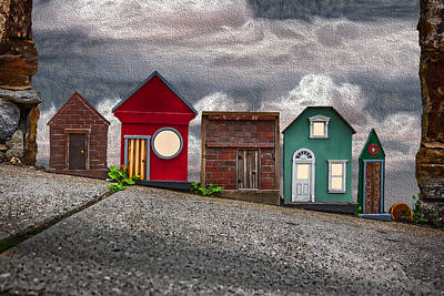 Tiny Houses On Walnut Street Art Print