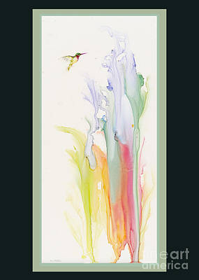 Painting - Tiny Hummer by Jan Killian
