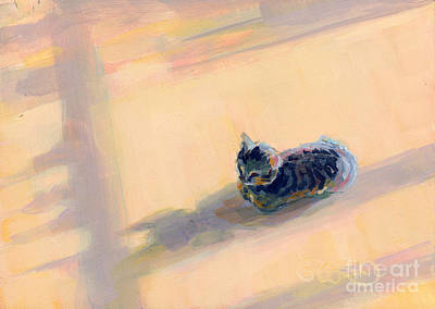 Rescue Pet Painting - Tiny Kitten Big Dreams by Kimberly Santini