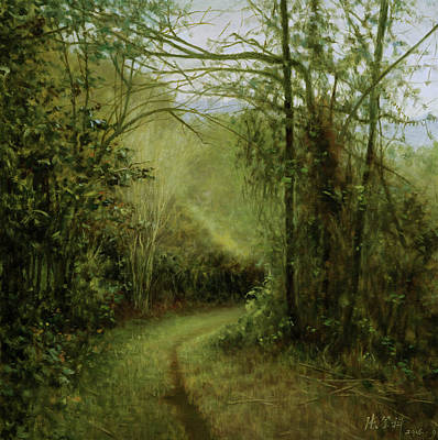 Tiny Road-did You Lead Me To A Secret Garden? Art Print