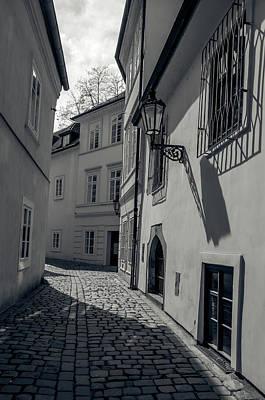 Photograph - Tiny Romantic Streets Of Prague. Rasnovka. Monochrome 1 by Jenny Rainbow
