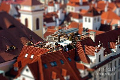 Tiny Roof Restaurant Art Print by Joerg Lingnau